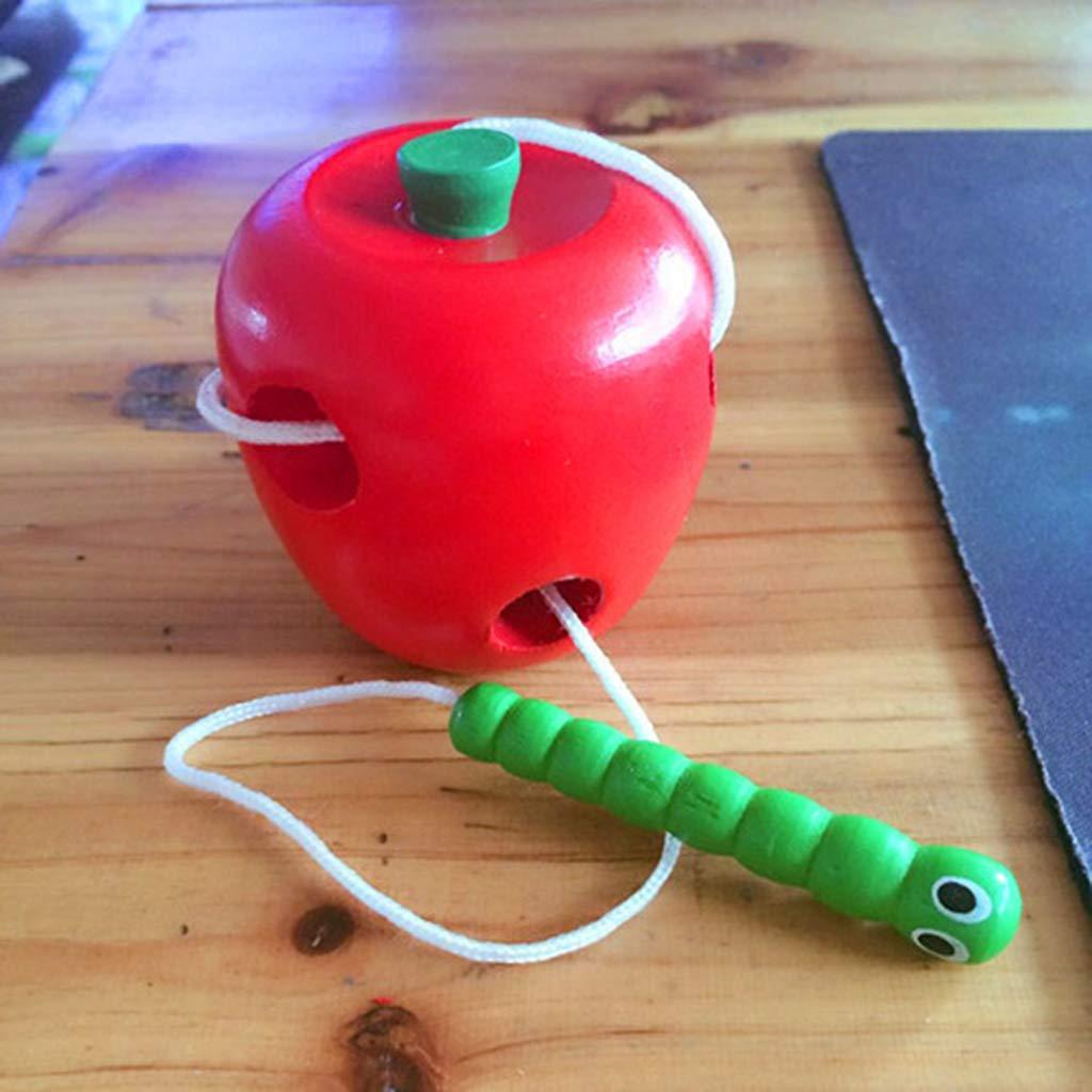 Ogquaton Gusano Premium Eat Apple Child Threading Juguetes Educativos