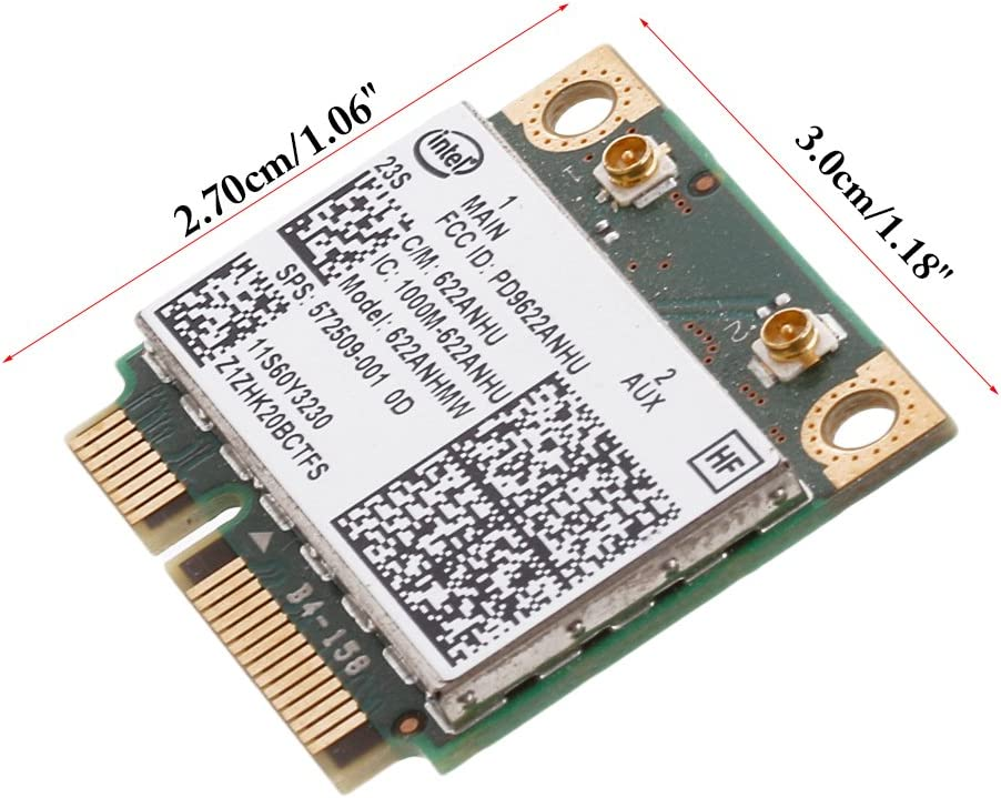 Slaxry Intel 622ANHU Advanced-N WiFi Card for Lenovo 60Y3230 8540W 2540P HP 572509-001