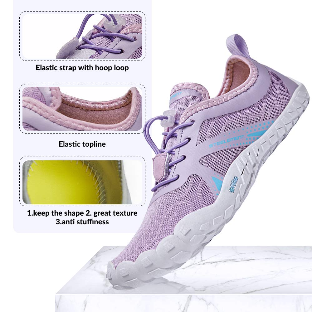 Women Barefoot Running Shoes Minimalist Zero Drop Wide Toe Box Jogging Walking Shoes Steelement Trail Running