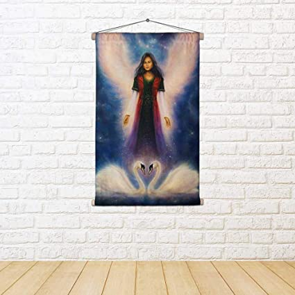Amazon com: ArtzFolio Angel Woman with Radiant Wings Above A