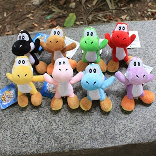 Matrix Theme Costume (gg 8Pcs/Set Mario Plush Doll Toy Colorful Yoshi Pendant 11CM Kids Gifts New)