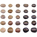 BigOtters Engraved Inspirational Stones,25 Different Words Encouragement Stones Amulets Gift Stones for Friends and…