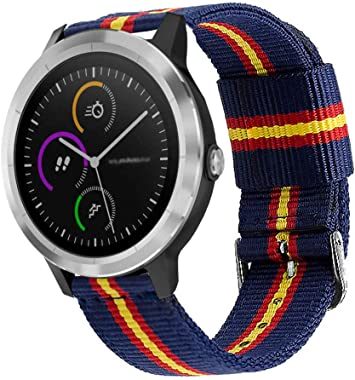 Estuyoya - Pulsera de Nailon Compatible con Garmin Vivoactive 3/Galaxy Watch Active 2/Forerunner 245/645 Music/Suunto 3/Polar Ignite Colores Bandera de España Transpirable Elegante 20mm: Amazon.es: Electrónica