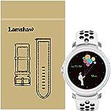 Lamshaw Ticwatch E バンド, シリカゲルバンド スポーツシリコンストラップリストバンド交換バンド柔らか運動型 対応 Ticwatch E 腕時計 (ブラック+ホワイト)