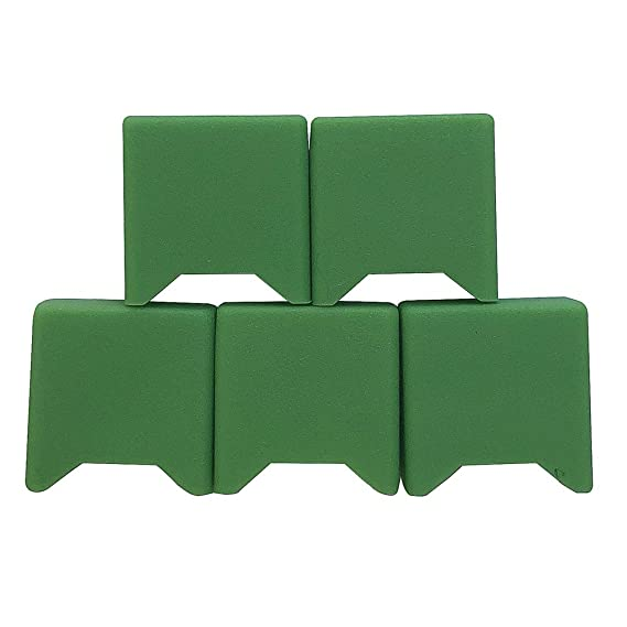 DSC-Mart 5PCS Silicone Anti Slip juul Mouthpiece pod Dust Cap Cover case  drip tip (Green)