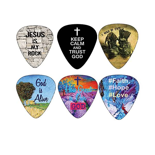 Christian-Guitar-Picks-12-pack-Bible-Inspirational-Messages-Celluloid-Medium-by-NewEights-Best-Gift-for-Church-Pastor-Worship-Team-Baptism
