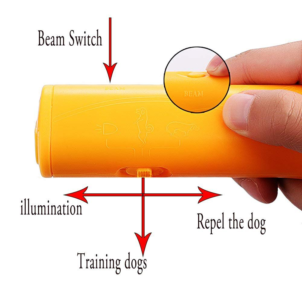 Brocase Ultra Sonic Dog Repeller 3 In 1 Portable Stop Circuit You Can Find One On This Ultrasonic Repellent Barking Anti Device Handheld Trainer Pet Training Outdoor Bark