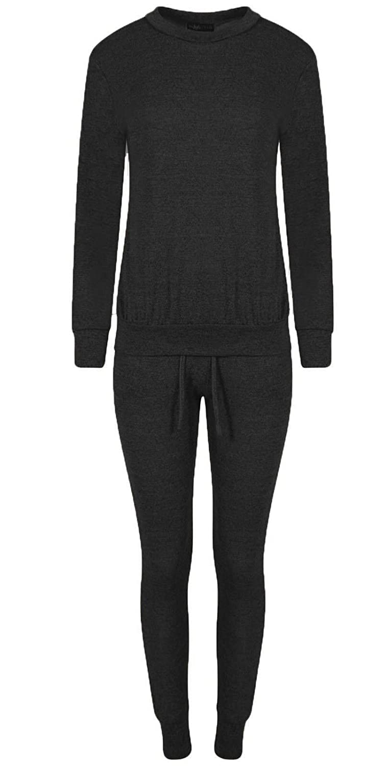 Clothing, Shoes & Accessories Women's Clothing Womens Ladies Sports Wear Lounge Wear Two Piece Crepe Top Bottoms Tracksuit Set