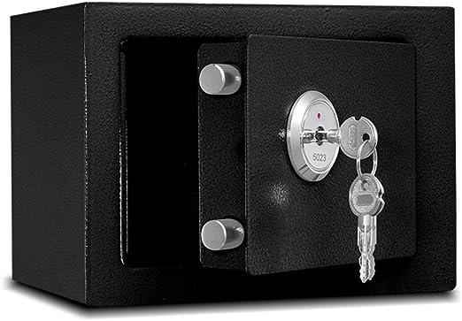 WANZIJING Caja de Seguridad, Caja de Seguridad mecánica Caja Fuerte de Acero de Alta Seguridad Caja Fuerte Caja de Almacenamiento de Dinero de la Oficina en el hogar Gabinete Seguro,Negro: Amazon.es: Hogar