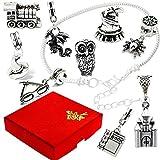Wizard Witch Magic Silver Charm Bracelet with Gift Box Womens Girls Jewellery