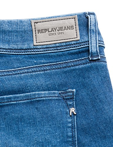 Luz Blue Replay Bootcut 9 Jeans Femme Bleu Denim SwpqHvpx