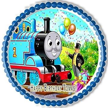 Amazoncom Thomas Train Edible Cake Topper 75 Round Kitchen