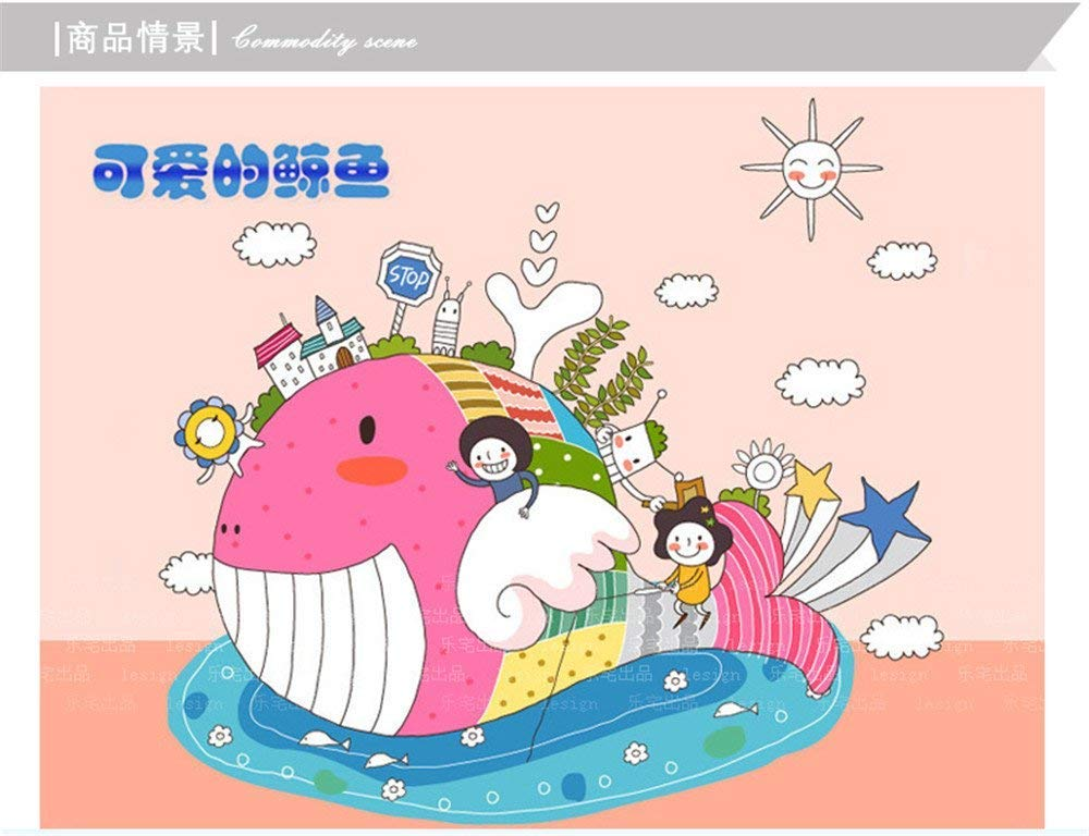 Yingealy Decorate Your Home The bedrooms are Lovely Whale Wall Stickers Removable Bathroom Toilet Cartoon Decorations self Adhesive Canvas