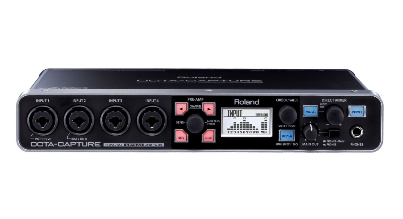 Roland OCTA-CAPTURE | 10 x 10 24-bit / 192 kHz Hi-Speed USD Audio Interface with 8 Premium Mic Preamps (UA1010)