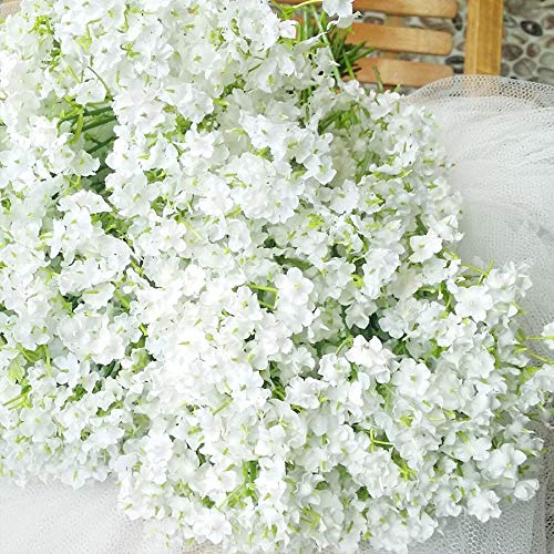 CoronationSun - Flower White - 3pcs/lot Birthday Party Wedding Decoration White Silk Real Touch Artificial Flowers]()