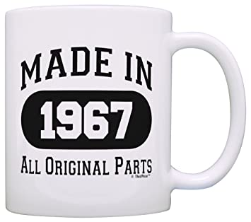 50th birthday gift made 1967 50th birthday party decorations gift coffee mug tea cup white - 50th Birthday Party Decorations