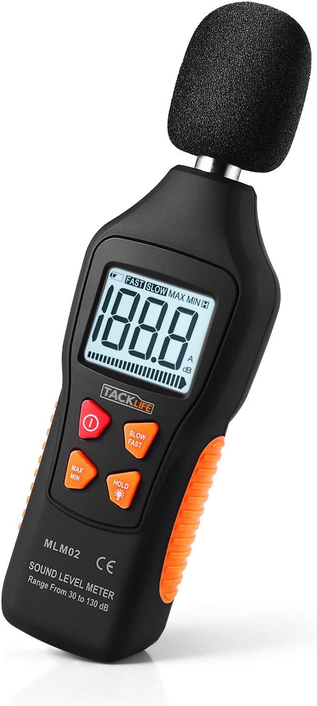 Decibel Meter, Tacklife Digital Sound Level Meter