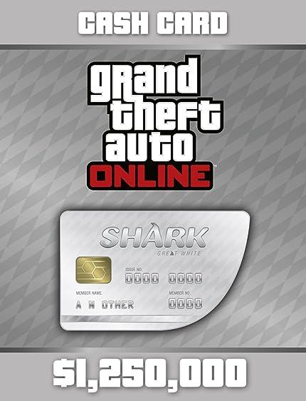 Amazon com: Grand Theft Auto V: Great White Shark Cash Card