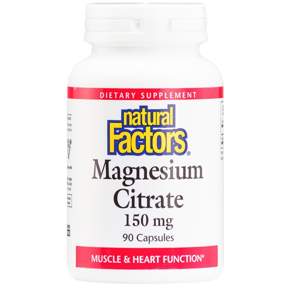 El citrato de magnesio, 150 mg, 90 cápsulas - Factores Naturales: Amazon.es: Salud y cuidado personal