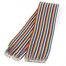 uxcell® KF2510 40P 40cm Jumper Ribbon Cable Female to Female Connector 2.54mm