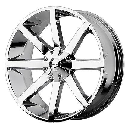 amazon com kmc wheels km651 slide triple chrome plated wheel 22x9