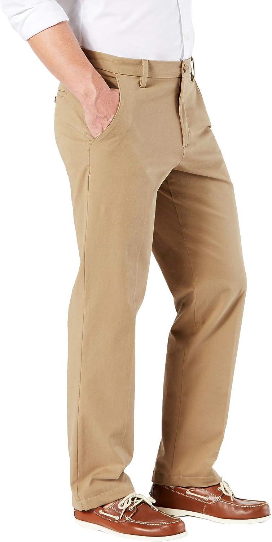 dockers Hombre 39898 Pantalones de Trabajo Rectos Color Caqui Smart 360 Flex Pantalones Casuales