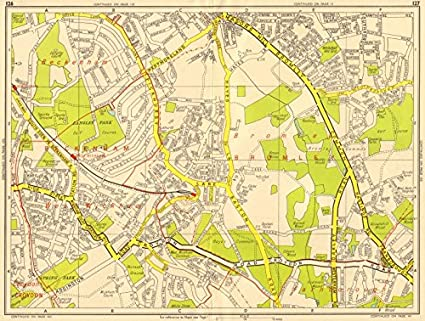 Sections Of London Map.Amazon Com Bromley South Hayes West Wickham Eden Park Geographers