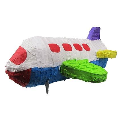Amazon.com: Grande Airplane Pinata, fiesta de cumpleaños ...