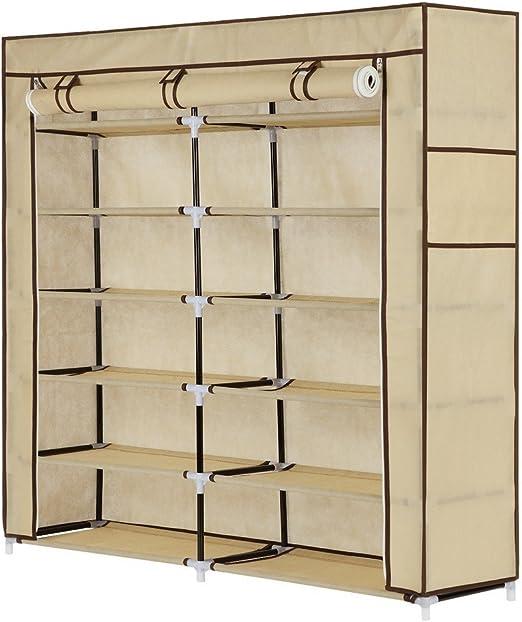 Homegear XL Free Standing Fabric Shoe Rack //Storage Cabinet //Closet Organizer