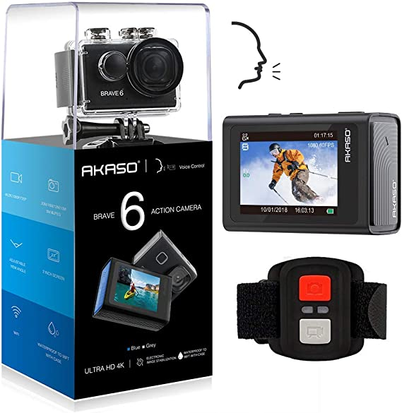 Compatible with The AKASO Brave 6 Action Camera Navitech 50-in-1 Action Camera Accessories Combo Kit with EVA Case