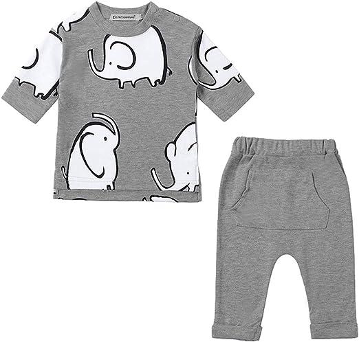 Baby Boys Newborn 100/% Cotton Outfits Set Jumper Shirt Tops+Pants 2pcs Clothes