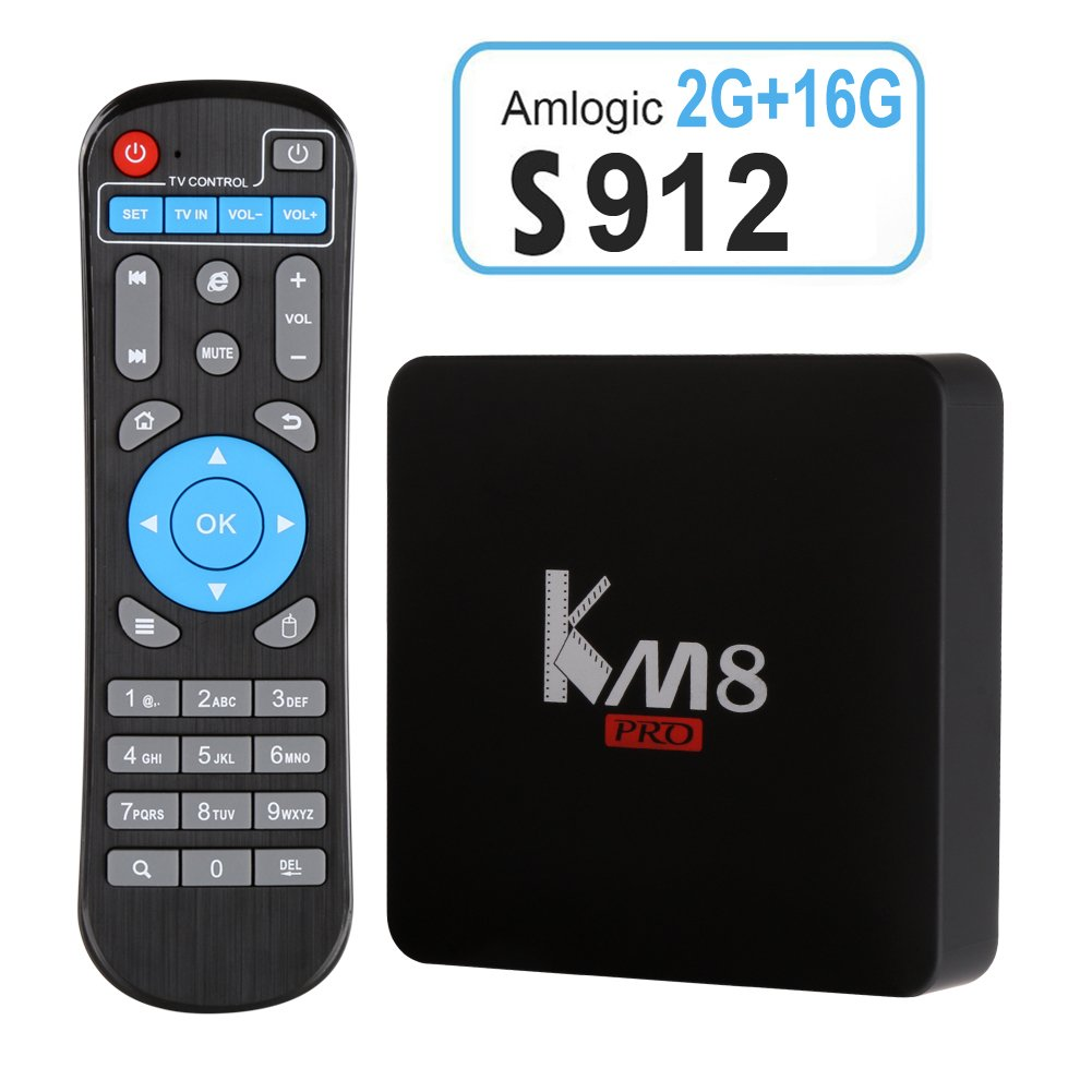 Edal KM8 PRO Amlogic S912 TV Box Octa Core Android 6.0 2G 16G TV BOX by Edal