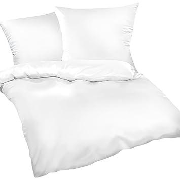 Hotelbettwäsche Bettwäsche 100/% Baumwolle 135x200 80x80 Weiß Premium de Luxe