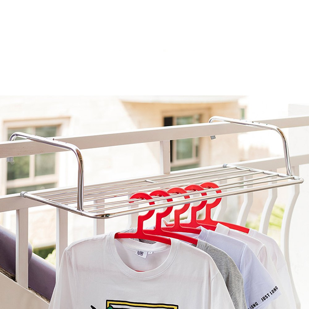 Vdomus Cloths Drying Rack Laundry Hanger Over Wall and Window