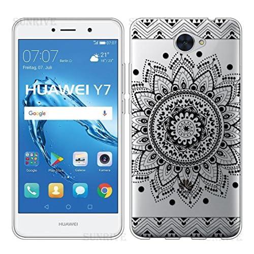 d9fe56815cc Funda Para Huawei Y7, Sunrive® Silicona Funda Slim Fit Gel Transparente  Carcasa Case Bumper