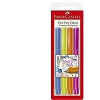 Caneta Ponta Fina, Faber-Castell, Fine Pen, FPB/ES2ZF, 4 Cores