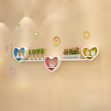 Amazon.com: Bedroom Shelves Wall Decoration Frame Heart - Shaped TV ...
