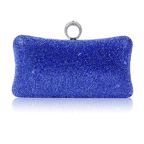Pillow Evening Bag One Shaped Damara Blue Womens Rhinestone ring wqRxEf