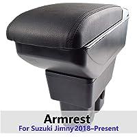 Arm Rest Box For Suzuki Jimny 2019 2020 Duel Comfort Storage Content Ash Central Console Adjustable Cup Holder Black…