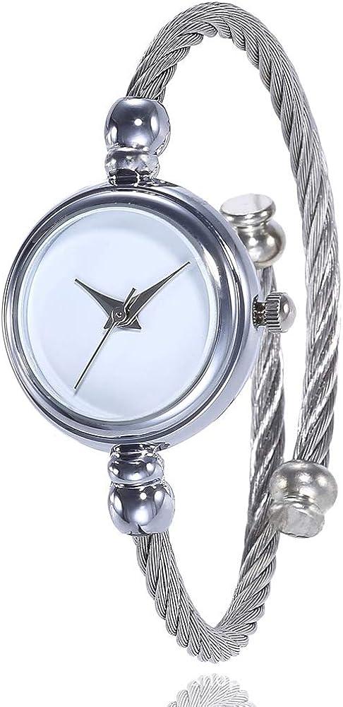 Elegant Ladies Women Watch, Bracelet Watch Silver Strap Simple Design Wristwatch for Women, Casual Wrist Quartz Watch