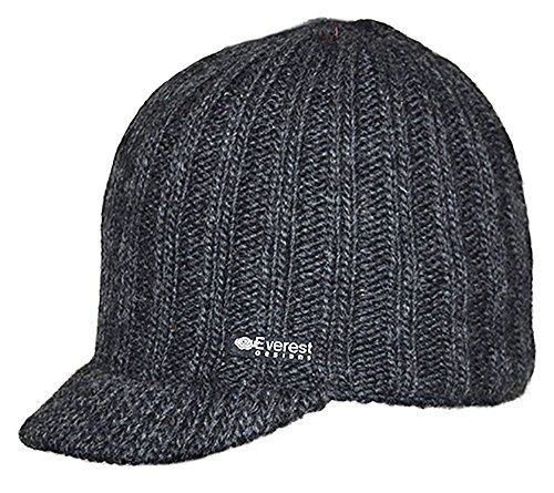 Everest Designs Aspen Visor Hat, Charcoal, One Size