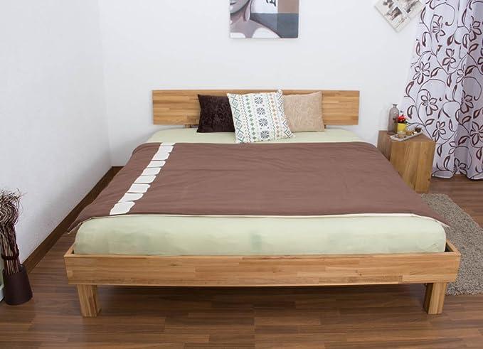Cama de madera maciza estructura de roble 180 x 200 cm barnizada: Amazon.es: Bricolaje y herramientas