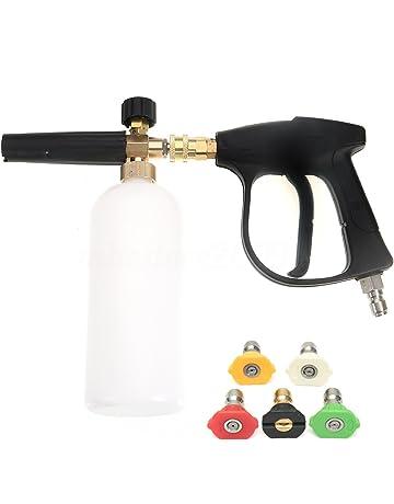 NUZAMAS Arandela de alta presión con 5 boquillas de agua y 1L Kit de botellas de