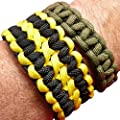 Paracord / Parachute Cord. 7-Strand, 550 Lb. Break Strength. Guaranteed U.S. Made, Type III Military Survival 550 Cord, 1/8 inch in diameter. 25 colors for Bracelets and Projects. Includes Two Ebooks.