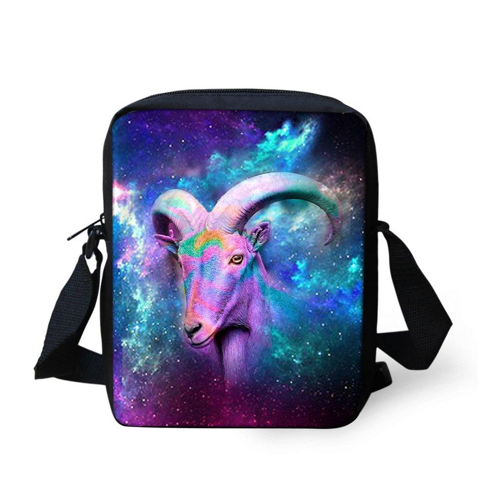 CHAQLIN Galaxy Wolf Boys Girls Womens Mens Shoulder Bags Messenger Bags Handbags