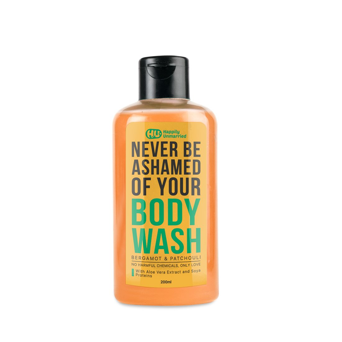 Happily Unmarried Body Wash, 200ml (Bergamot and Patchouli)