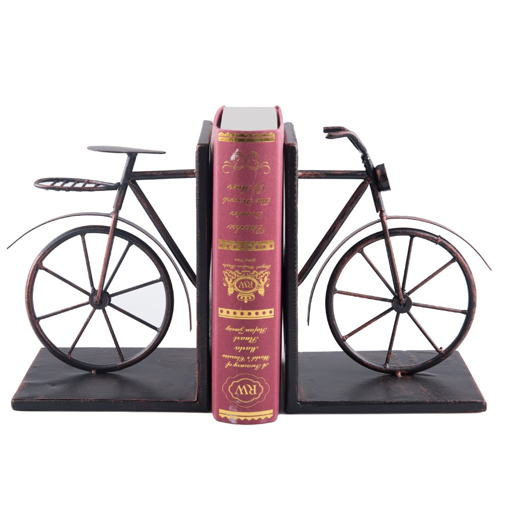 Fasmov Vintage Style Bicycle Bookends Art Bookend Bronze