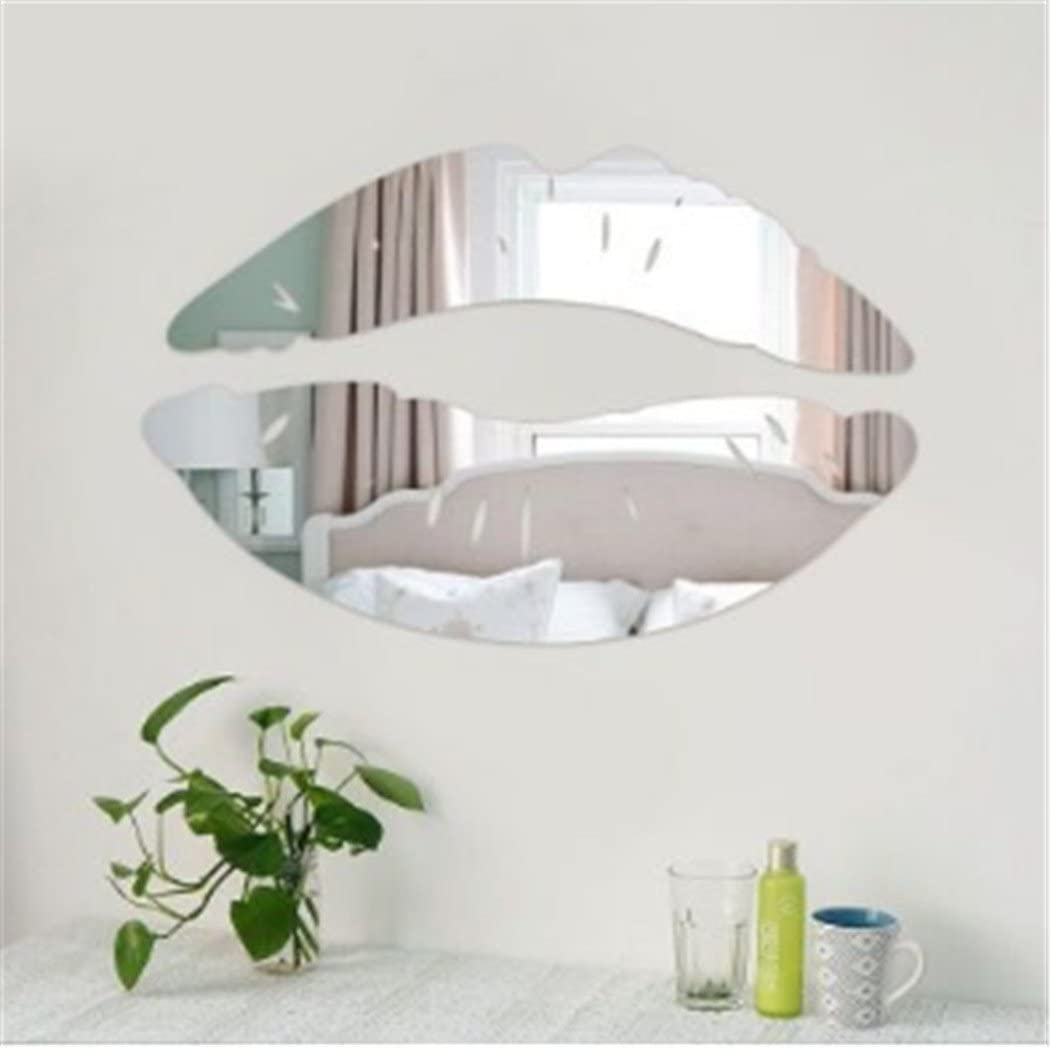Hot Kiss Lip Shape Self-adhesive 3D Mirror Wall Stickers Decal Room Decoration
