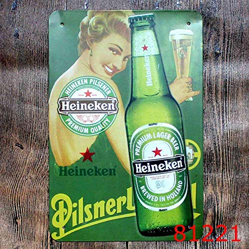 crzcrz Heineken - Cartel de Metal con Texto en inglés Pub ...