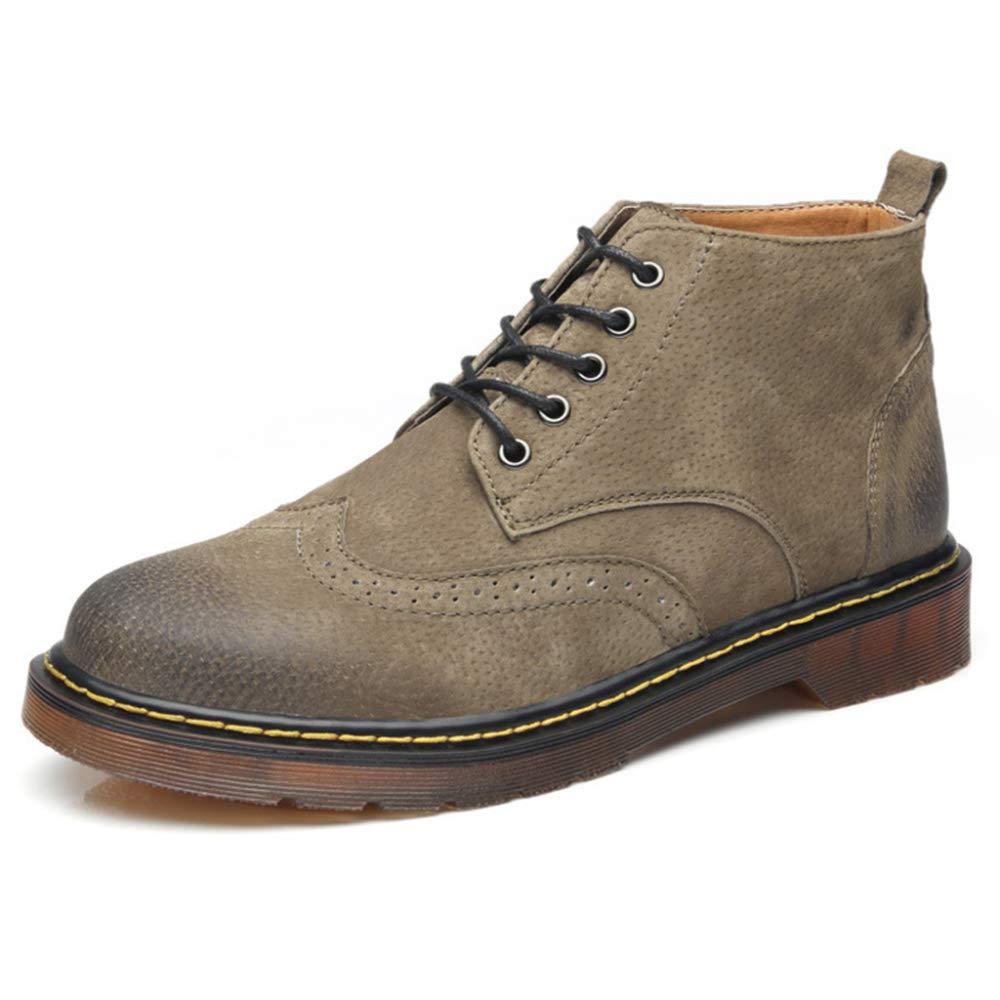 Souy Hombre con Cordones Martin Boots Casual High Tops Botines con Puntera Redonda Botas De Vaquero De Cuero Genuino para Hombre Botas Chelsea: Amazon.es: ...